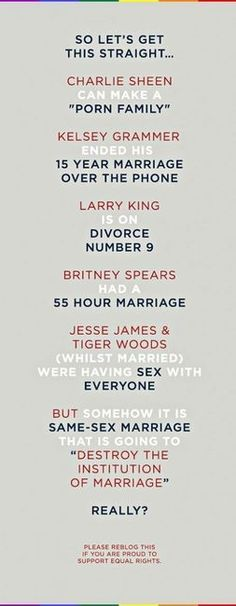 REALLY???? Instead of worrying about same sex marriage... I'm thinking about my no-sex marriage...