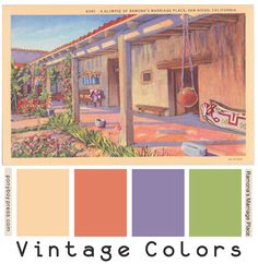 Ponyboy Press - zine maker, design lover, dedicated homebody: Search results for color palette Hex Color Palette, Vintage Colour Palette, Color Schemes Colour Palettes, Color Palate, Vintage Colors, Color Combos, California Colors, Vintage California, Northern California