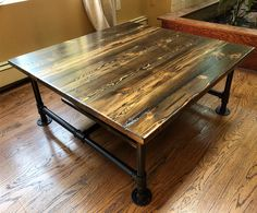 Excited to share this item from my shop: Reclaimed Wood Industrial Pipe Coffee Table with Shelf Coffee Table With Shelf, Reclaimed Wood Coffee Table, Diy Coffee Table, Unusual Coffee Tables, Pipe Leg Table, Industrial Pipe, Industrial Shelves, Pipe Decor, Furniture Dining Table