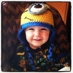 Minion Hat, Newborn-Baby-Toddler-Child Minion, One-Eyed Minion, Despicable Me Hat, Character Hat, Funny Hat, Costume Hat, Christmas Gift