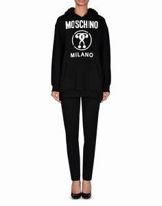 Moschino Question Marks Womens Long Sleeve Sweatshirt Black