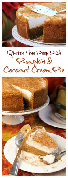 Not only is this Thanksgiving dessert recipe gluten free and dairy free, but it's easy to make and transport, too! Get the recipe for Gluten Free Deep Dish Pumpkin & Coconut Cream Pie recipe at This Mama Cooks! On a Diet