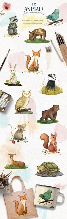Animals and Nature - Design Kit by Lisa's Balcony on @creativemarket