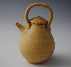 Speckled Yellow Miniature Ceramic Teapot