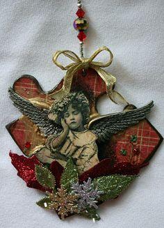 Puzzle piece ornaments http://www.victoriasartvisions.blogspot.com