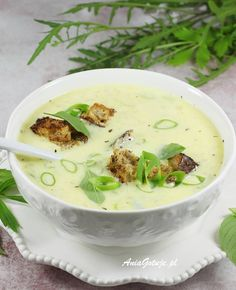 Soup Recipes, Cooking Recipes, Cake Recipes, Healthy Recipes, Polish Recipes, Polish Food, Cheese Soup, Aesthetic Food, Food Design