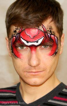 """Big Hero 6"" Baymax inspired Face Painting Design"