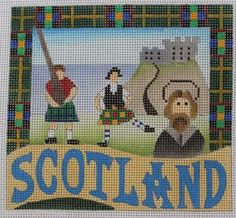 Denise DeRusha Geographical - Scotland Needlepoint