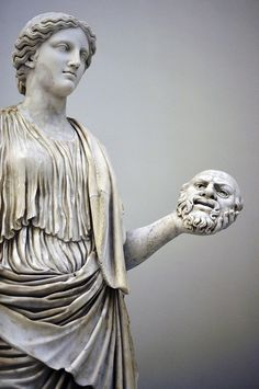 Thalia Muse of the Theatre. Roman 2nd.century AD. marble. QUEST FOR BEAUTY