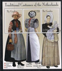 Dutch Traditional Costumes by P8 Accessories Button Art, via Flickr