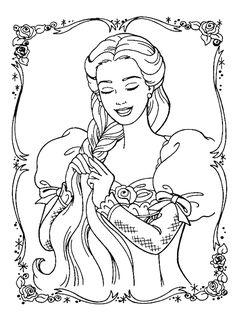 coloring page Princesses - Princesses