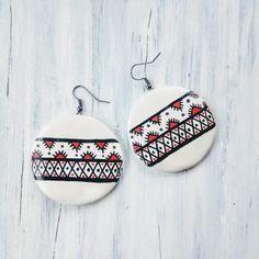 Cercei « Categorii de Produse « Mărgelușa Clay Earrings, Hand Painted, Ornaments, Handmade, Fimo, Hand Made, Craft, Decorations, Ornament