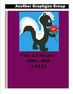 (4) Name: 'Crocheting : Cute lil Stinker Baby Blanket Pattern