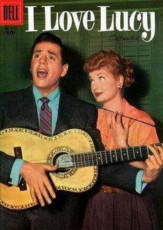 February-April 1956 - Desi Arnaz and Lucille Ball.