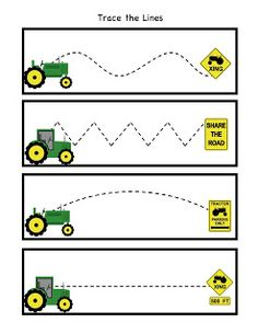 Preschool Printables: Little Green Tractor Pattern Cards Farm Activities, Preschool Themes, Preschool Printables, Preschool Lessons, Preschool Classroom, Preschool Learning, Preschool Activities, Teaching, Tracing Practice Preschool