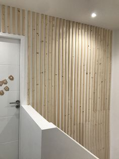 Peaceful Home, Wood Interiors, Batten, White Walls, Wood Wall, Diy And Crafts, Sweet Home, Corridor, Interior Design