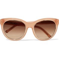 74ce556027e Chloé - Round-frame Acetate Sunglasses ( 144) ❤ liked on Polyvore featuring  accessories