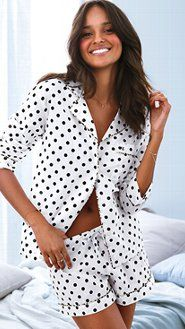 Browse women's pajamas to find endless sleepwear styles. From everyday styles to holiday prints, shop pjs in silk, cotton, thermal and more, only at Victoria's Secret. Cute Pjs, Cute Pajamas, Pajamas Women, Pyjamas, Silk Pajamas, Sleepwear & Loungewear, Nightwear, Pajamas All Day, Victoria Secret