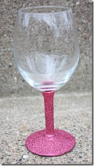 Wine Glass with Glitter