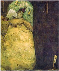"""""""Pojken som aldrig var rädd"""", from """"Bland Tomtar och Troll"""" 1912, illustrated by John Bauer"""