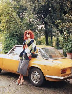 testa rossa: malgosia bela by venetia scott for w august 2014 | visual optimism; fashion editorials, shows, campaigns & more!