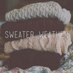 Tumblr *Sweater Weather* | via Tumblr
