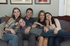 The wonderful McCord family! Téa Leoni as Elizabeth McCord, Tim Daly as Henry McCord, Wallis Currie-Wood as Stevie, Kathrine as Alison and Evan Roe as Jason!