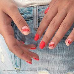 50 Trendy Red Nail Art Designs for Holiday : 50 Trendy Red Nail Art Designs for Holiday Stylish Nails, Trendy Nails, Cute Nails, Minimalist Nails, Nail Manicure, Gel Nails, Red Nail Art, Pink Nail, Pastel Nails