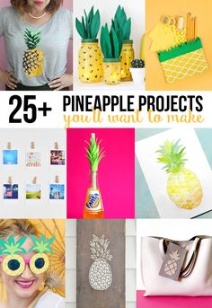 they are en trend with all the pop fashion loving teens at the moment so why not stop their boredom on rainy days in summer with these stylish crafts Pineapple Crafts, Projects, and Printables you will want to make! Diy For Teens, Crafts For Teens, Crafts To Do, Arts And Crafts, Diy Projects For Teens, Summer Diy, Summer Crafts, Do It Yourself Organization, Rainy Day Crafts