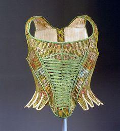 Corset, late 1760s, French, silk. Metropolitan Museum of Art.