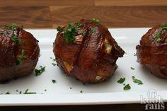 Gevulde ui met gehakt, spek en barbecuesaus. Wat een goddelijke combinatie blijkt dat te zijn!