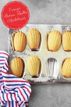 The Classics: Brown Butter Orange Madeleines are easy to make cookies, full of flavor. They're perfect in the morning with coffee, or as a midday snack!