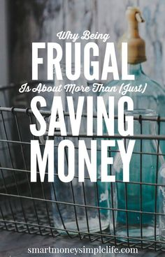Why Being Frugal is About More Than (Just) Saving Money Saving money is always a good thing. Whether or not it's a hard thing depends on why you're saving it. Frugal Living Tips, Frugal Tips, Frugal Family, Ways To Save Money, Money Saving Tips, Money Tips, Saving Ideas, Money Hacks, Budgeting Money