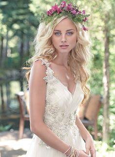 De bruidscollectie van het Amerikaanse merk Maggie Sottero heeft zich dit jaar gericht op vintage stijl. De Bohemian, Vintage of Boho Chic stijl is een trend in 2016!