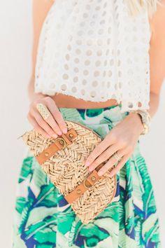 Palm Print Skirt + Crop Top - Mckenna Bleu