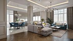 Enhance Your Senses With Luxury Home Decor Classic Living Room, Elegant Living Room, Elegant Home Decor, Home Living Room, Living Room Decor, Dining Room, Home Room Design, Interior Design Living Room, Living Room Designs