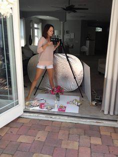 Flatlay photography | Flat lay photos | In the Studio: Photography Setup