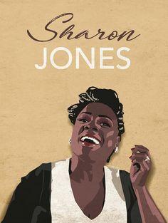 Sharon Jones vector by macadam