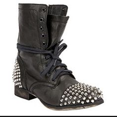 "Steve Madden """"Tarnney"""" Studded Combat Boot"