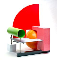 Los Angeles-based sculptor and furniture maker Peter Shire was one of the original members of the Milan-based Memphis Group which is known for its postmodernist Peter Shire, Design Furniture, Chair Design, Home Furniture, Bauhaus, Unusual Furniture, Contemporary Furniture, Memphis Furniture, Pop Art