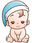 Lindo bebé de la historieta Vector De Stock