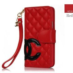 Chanel Samsung Galaxy S5 Cases Designer buy leather Cover Red Free Shipping - Deluxeiphonecase.com