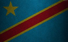 Download wallpapers Flag of the Democratic Republic of the Congo, DR Congo, DRC, leather texture, 4k, Congo flag, Africa, world flags, African flags, Democratic Republic of the Congo