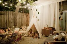 Lovely Outdoor space // Denise Bovee - A Beautiful Mess