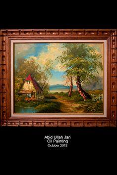 landscape in oil - by Abid Ullah Jan Art Work, Oil, Landscape, Painting, Artwork, Work Of Art, Scenery, Painting Art, Paintings