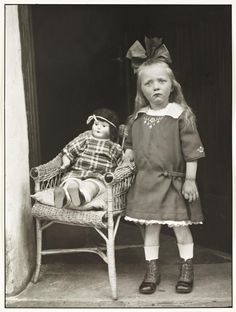 August Sander 'Girl with her Doll in a Chair', c.1927–30, printed 1990 © Die Photographische Sammlung/SK Stiftung Kultur - August Sander Archiv, Cologne; DACS, London, 2016.