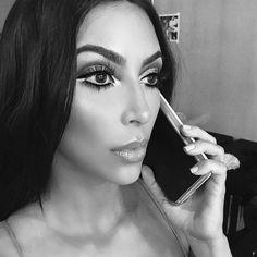 "426 Likes, 8 Comments - Kim Kardashian Snapchats  (@kimksnapchats) on Instagram: ""Dazed ✨ #kimkardashian #makeupbymario @bombbellas"""