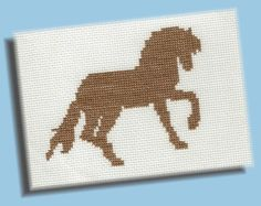 Cross Stitch Pattern: Horse Silhouette