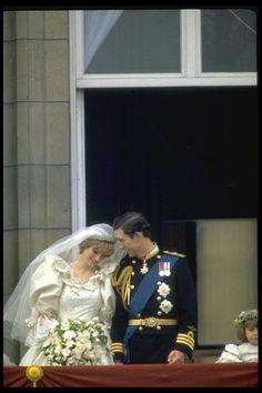 mariage du prince Charles de Galles et de Diana Spencer à la Cathédrale Saint-Paul de Londres le 29 juillet 1981.