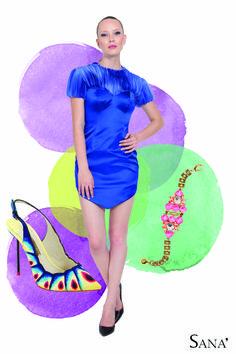 The vibrant look from Sana'  +Sophia Webster Stilettos +Lulu Frost bracelet